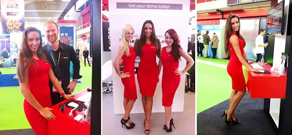 Exhibition Stand Hostess : Exhibition girls model hostess staff at vm world barcelona
