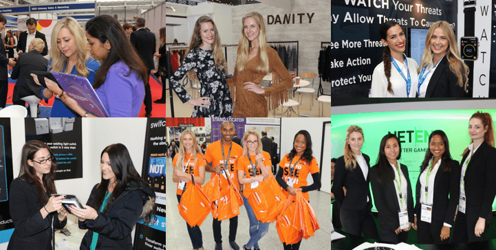 Exhibition Girls at Data Centre World ExCel London