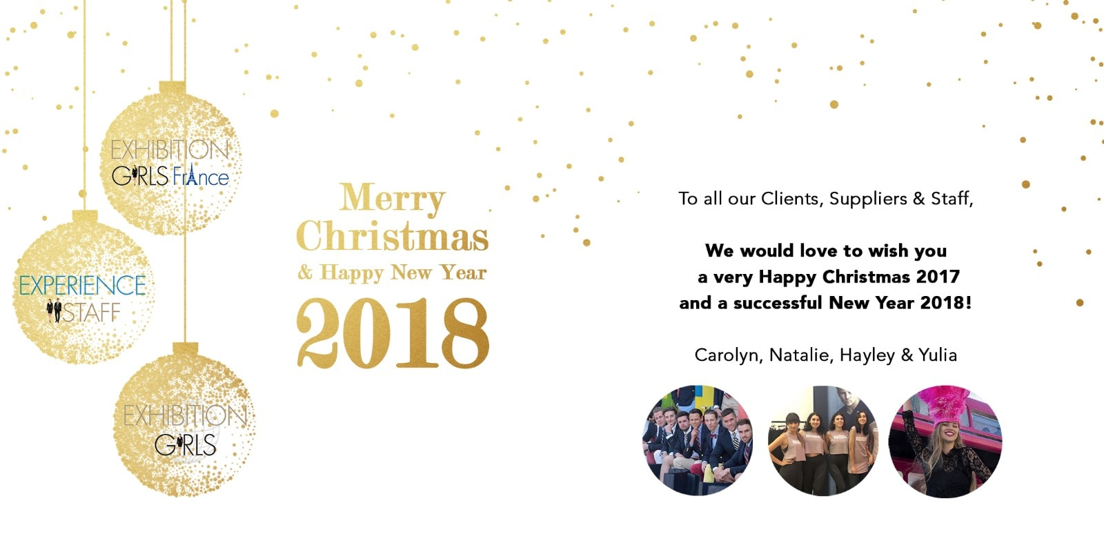 Happy Christmas and New Year 2018 from Exhibition Girls Limited