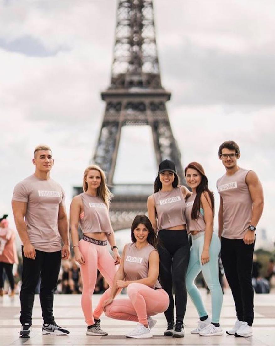 Exhibition Girls Gymshark Pop up store launch Paris October 2017