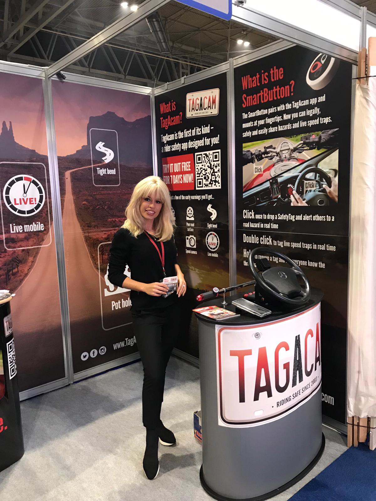 Exhibition Staff for TAGACAM at Motorcycle Live 2018, NEC Birmingham
