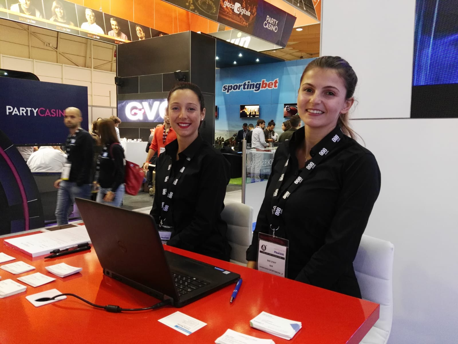 Hostesses available to greet guests and clients at events