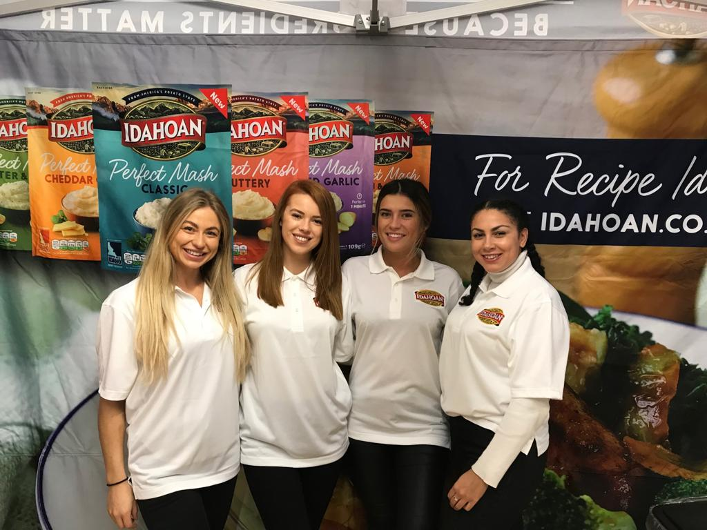 Promo Girls at the NEC Birmingham BBC Good Food Show Winter