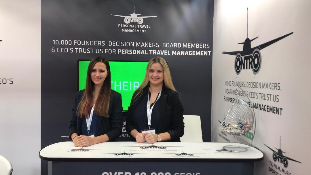 Promo Girls for Business Travel Show at London Olympia