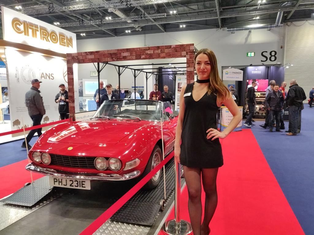 Promo Girls for London Classic Car Show at ExCel London