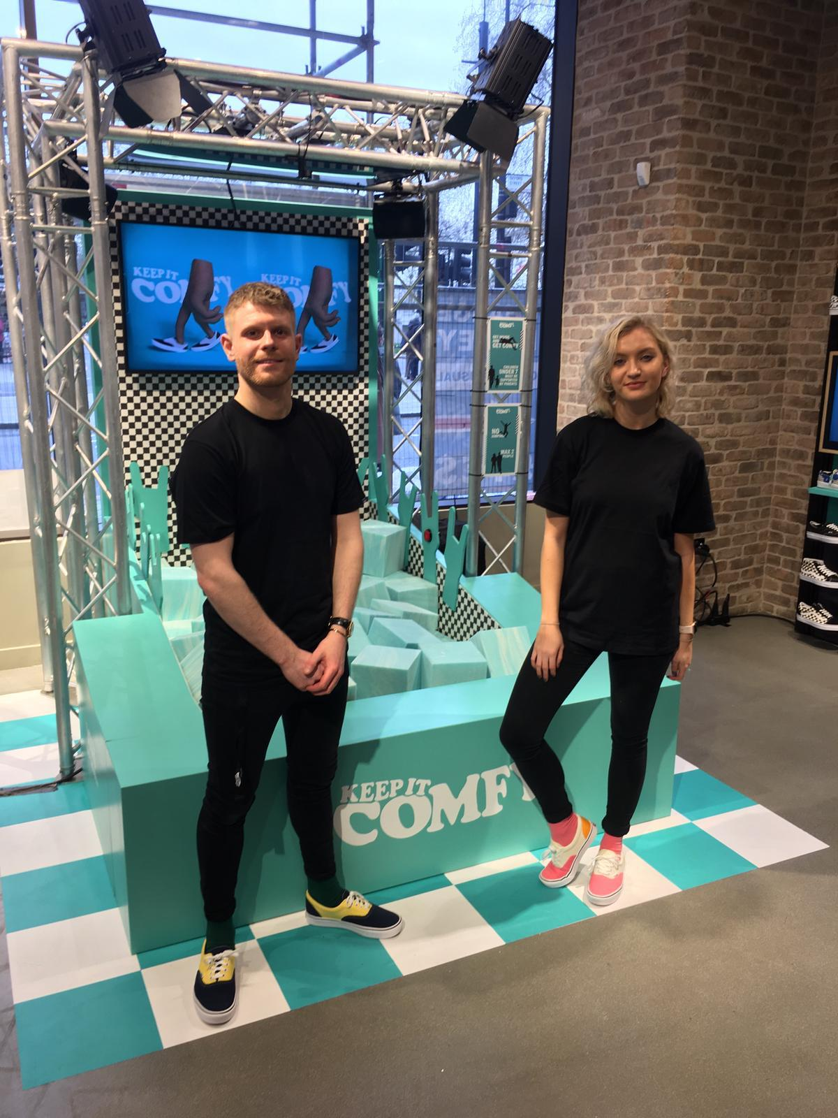 Promotion Staff for Vans ComfyCush Footlocker Launch