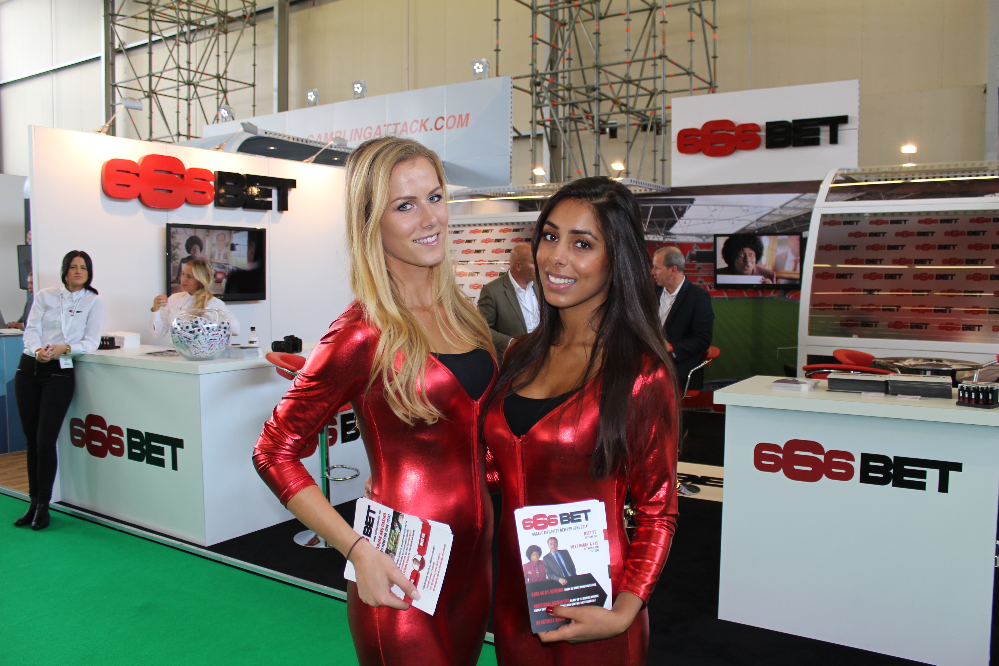 Promotional Models at IGB Live igaming Amsterdam July