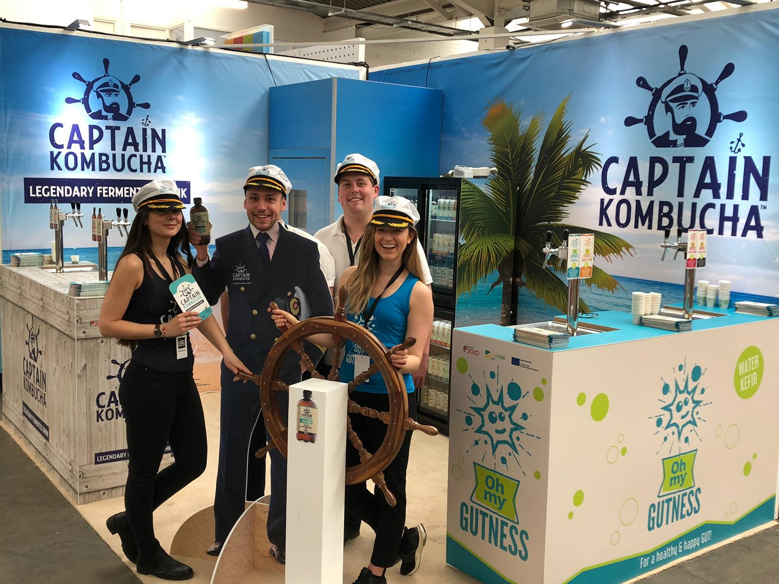 exhibition staff at the ideal home show exhibition at olympia london